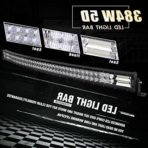 Curved Bar YITAMOTOR 5D Spot LED LED Work 5D Lens With Harness Off Fog Light Boat Warranty
