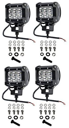Cutequeen 4 X 18w 1800 Cree Spot Light for SUV 4x4 Jeep Lamp Lighting Rv