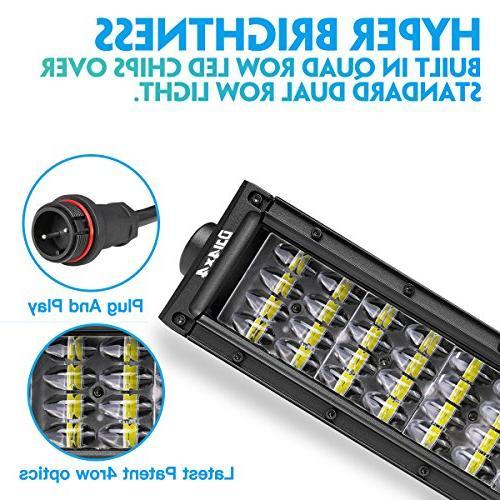 DJI 4X4 Curved 832W Quad Driving Light Road LED Lights Fog Trucks Jeep SUV UTV, 2 Warranty