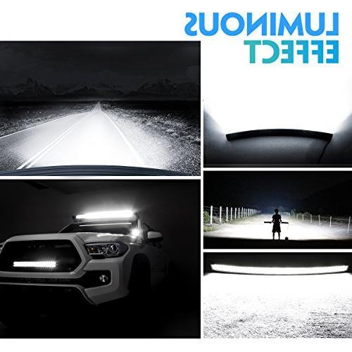 DJI 4X4 Curved LED Light Bar, 832W Quad Row LED Driving Off LED Fog for Jeep SUV ATV 2 Warranty