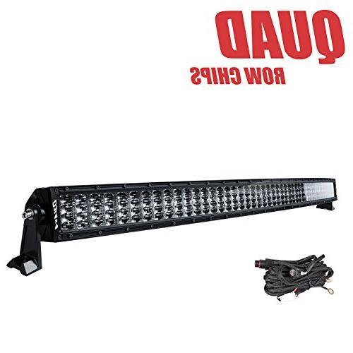 DJI 4X4 54 Inch Curved LED Light Bar, 832W Quad Row LED Driv