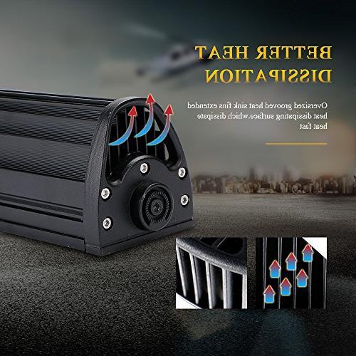 DOT Curved Led Light Bar + 4 18W Pods Lights W/Rocker Harness Offroad SUV UTV Polaris