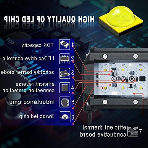 TURBOSII Bar 44 Inch Spot Flood Combo LED Driving Lamp Off Light Truck SUV Dodge Jeep