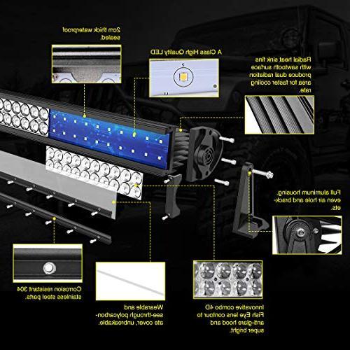 LED Light 16 Inch LED Light 4D 8ft Straight Eye 12000Lumens Offroad & Flood Year Warranty