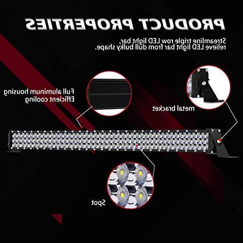 LED Rigidhorse 82000LM 52 500W 32 Inch Combo White LED Light + Pods Wrangler YJ CJ LJ