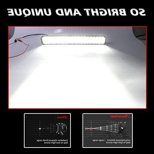 "LED Rigidhorse 72000LM 42 Inch 400W 22 200W Flood Spot Beam Combo Light Bars 4"" LED Pods Combo Fit for Jeep JK TJ"