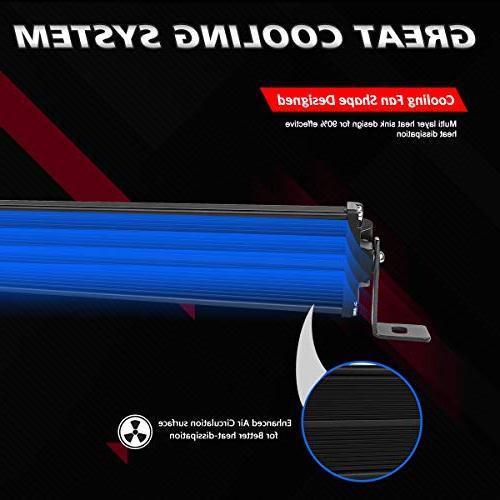 "LED Light Rigidhorse 72000LM 400W + Inch 200W Beam Light Bars + 4PCS 4"" LED Pods Jeep Wrangler JK TJ"