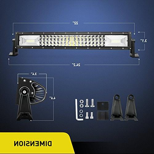 LED Bar Nilight 22Inch 27000LM Flood Combo Beam Driving Lights Boat Bright Lights for Trucks,2 Warranty