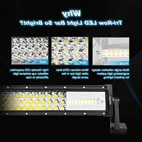LED 22Inch 270W Triple 27000LM Flood Beam Led Bar Lights Boat Bright Led Off Road Lights Warranty