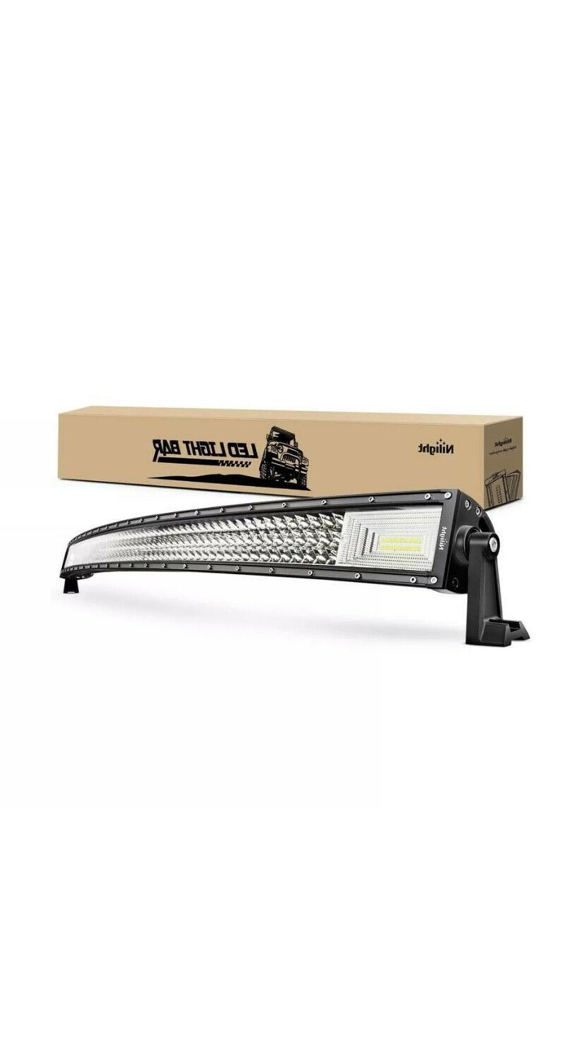 LED Light Bar Nilight 52Inch 783W Curved Triple Row Flood Sp