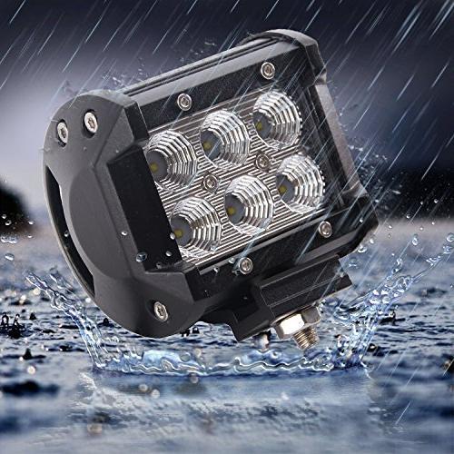 LED Light 2x 18W Cree Spot Bar Work Light, Off-road Fog Light for Off-road, ATV,