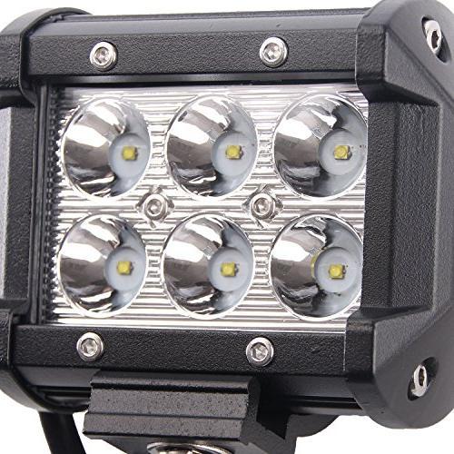 LED Light Light 18W Bar Off-road Light Mounting for Off-road, Car, ATV,