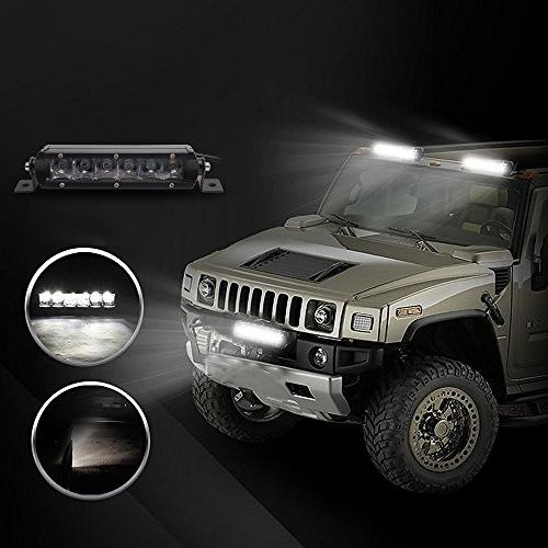 LED Bar, Light 2x CREE Single Row Spot LED Light Driving Lamp Work IP67 Road SUV Jeep Boat