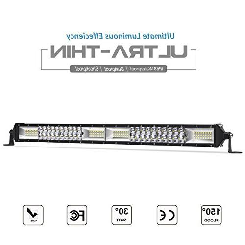 LED Light Bar, Rigidhorse 20 inch 400W Spot & Flood Beam Com