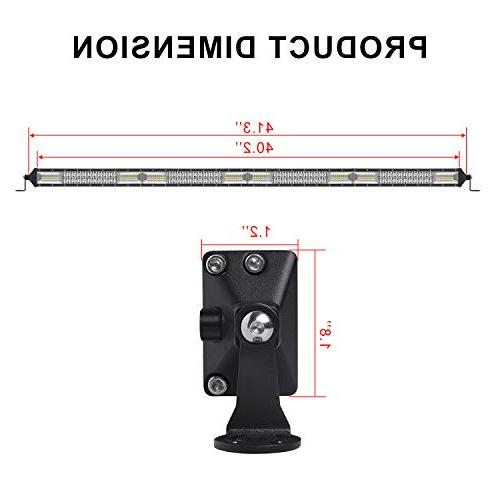 LED Light 40 inch Spot & Beam Double Row Off Road Fog Driving Bars, for Ford Boat, 1 Years Warranty