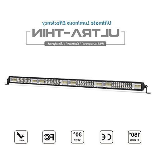 LED Light Bar, Rigidhorse 40 inch 800W Spot & Flood Beam Com