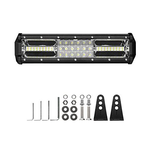 Triple Row 12 108W LED Spot Flood Lights LED Driving Lights Jeep Off Lights SUV Lighting Adjustable Mounting Bracket