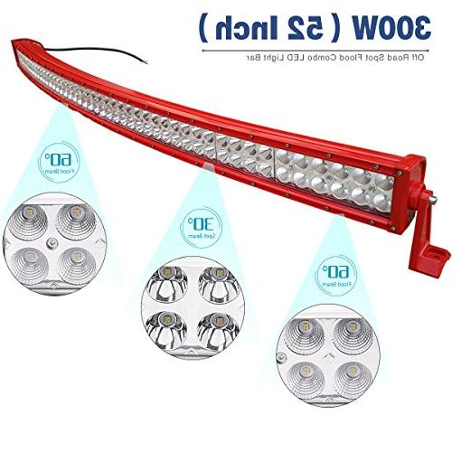 LED 52 Light Offroad Lights with for SUV, UTE, 4X4, - 27,000 Year Warranty