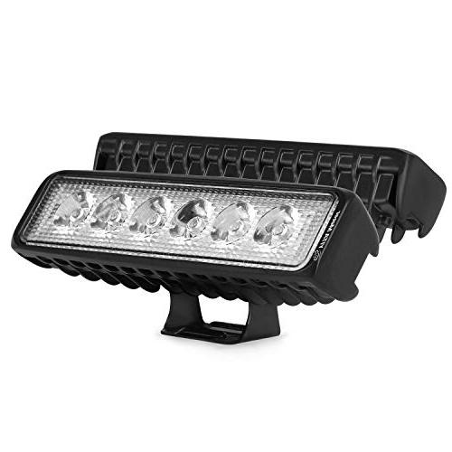 LED Light bar YITAMOTOR 2Pcs 6Inch 18W Spot Led Work Light B