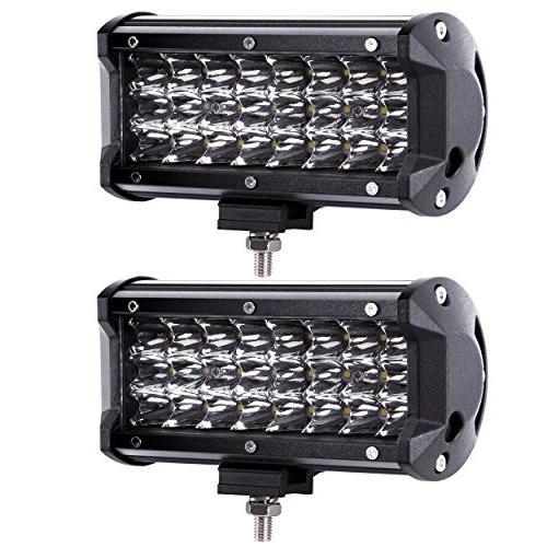 LED Pods, Northpole Light 2PCS 7 inch 72W Spot LED Light Bar