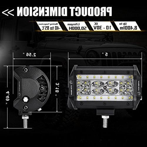 LED Pods Pcs QUAD Row Bar LED Cube Off Spot Fog Truck Jeep Boat cart ATV SUV, Years Warranty