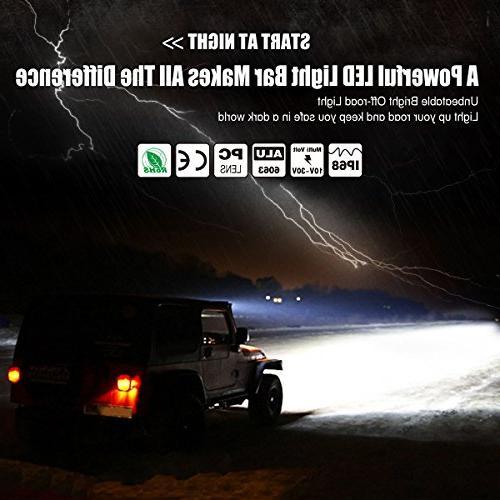 Curved YITAMOTOR 5D Spot Flood LED Pod Light With Off Road Light Fog Light Jeep Light Boat Warranty