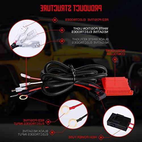 Harness,Autofeel Dual Work Light Relay,Waterproof Switch