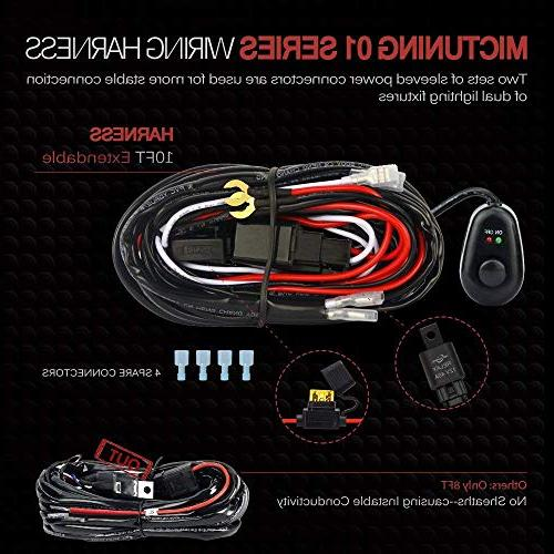 MICTUNING Wiring Harness Off Road Power 40A ON-Off Switch