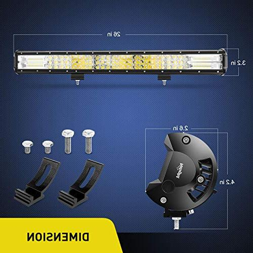 Nilight 18005C-A 26Inch Triple Row 29700LM Spot Combo Led for Years Warranty