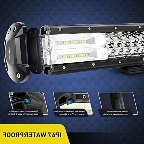 Nilight 26Inch Triple Row 29700LM Flood Spot Combo Bar Driving Super Led Off Road for Trucks,2 Years