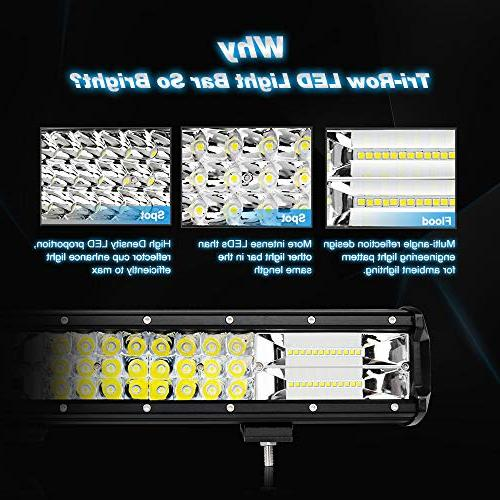 Nilight 18005C-A 26Inch 297W Spot Beam Bar Driving Led for Trucks,2 Years