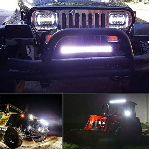 Nilight 26Inch 297W Triple Spot Combo Beam Bar Driving Led Off Road for Trucks,2