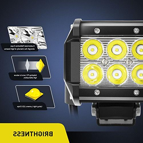 Nilight 2PCS Spot Driving Fog Light Off SUV Boat Lamp,2 years Warranty