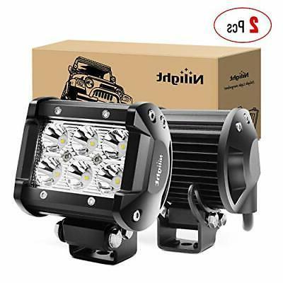 Nilight 2PCS 18W 1260lm Spot Driving Fog Light Off Road Led