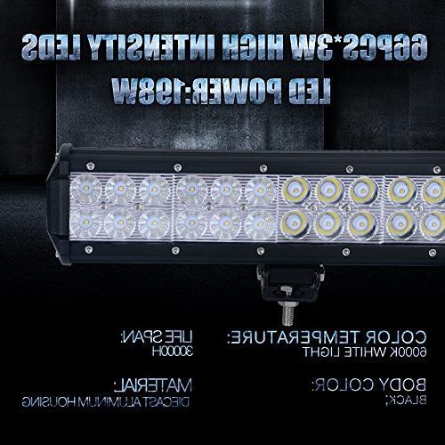 Nilight Light Combo Off Light Fog Lights for Jeep Lamp,2