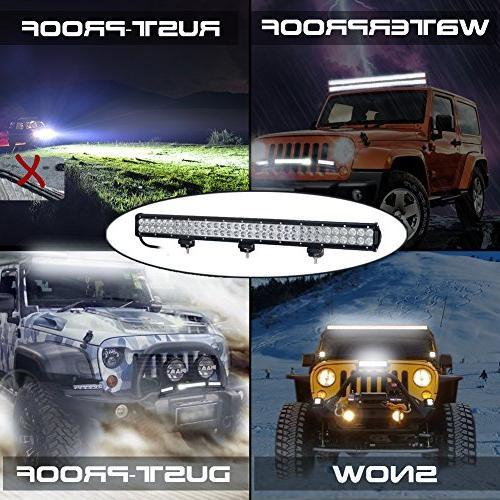Nilight Light Bar Flood Combo Off Road Work Light Fog for SUV Boat 4x4 Jeep Lamp,2 Years