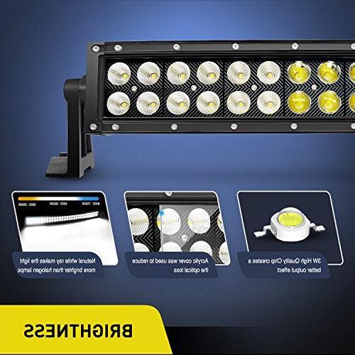 Nilight 180W Flood LED Light Off Fog for SUV Boat Lamp,2 Warranty