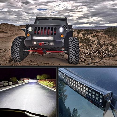 """Nilight 32"""" Spot Flood Combo LED Driving Lamp Light Off Fog Work for SUV Boat Jeep Lamp,2 Years Warranty"""