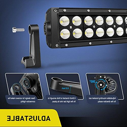 Led 42Inch 240W Curved Flood Combo Led Road Lights Driving Light Boat Driving Work Light,2
