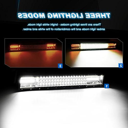 Nilight LED Light 22Inch & Amber Triple Row 13500LM Flood Spot Led Lights for Wiring Harness Kit,2 Warranty