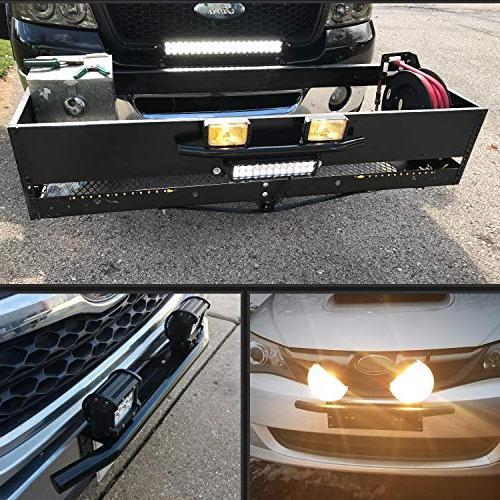 Nilight Light Bar Mounting Plate Bracket Plate Bracket for Lights LED Work Lighting Years Warranty