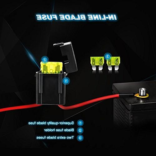 Nilight ZH006 Bar 126W Flood Combo Led Road Lights with 16AWG Harness Kit-2 Years Warranty
