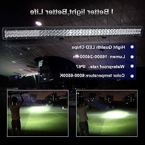 "TURBOSII 44 Inch 288W Spot Lamp Off Road Lights + 4"" Light Boat Truck SUV ATV Toyota Jeep"