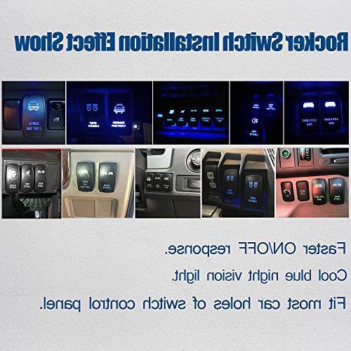TURBOSII LED 2PCS 4In 18W Pods Lights + Rocker Switch Wiring For Truck Chevy Silverado 4 Ram Honda ATV