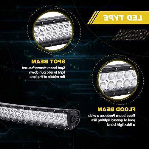 UNI 54 312W LED Bar Offroad W/Rocker + 2PCS In Pods Cube Driving For Truck Jeep Wrangler JK Silverado Pickup