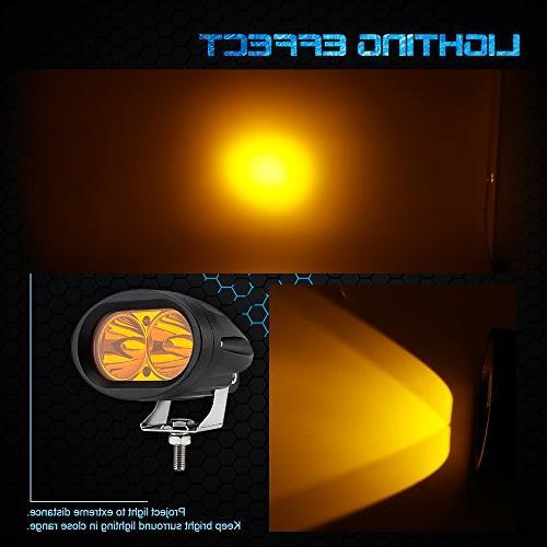 WEISIJI LED Amber Color Headlight LED Light Off Road Light UTV Light Truck 2