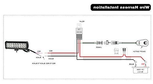 YITAMOTOR 24 Light Bar Spot Flood Combo Bar Light compatible for ATV, Boat, LED Light