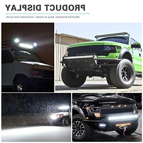 YITAMOTOR Inch Light Bar Offroad Combo Led Waterproof Light with compatible for Truck, ATV, Boat, LED Light Bar White