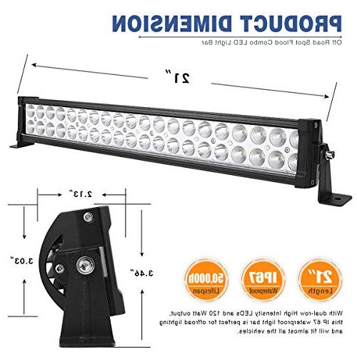YITAMOTOR 24 Bar Combo Bar Dual Row LED Work Light compatible Truck, ATV, LED Light