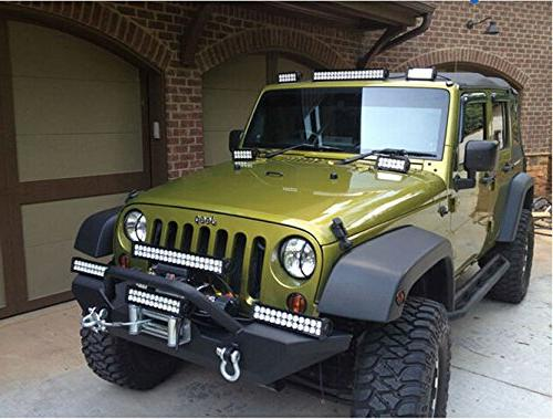 YITAMOTOR Inch Light Bar Offroad Combo Led Bar Dual Row Light Harness compatible Truck, ATV, Boat, Light